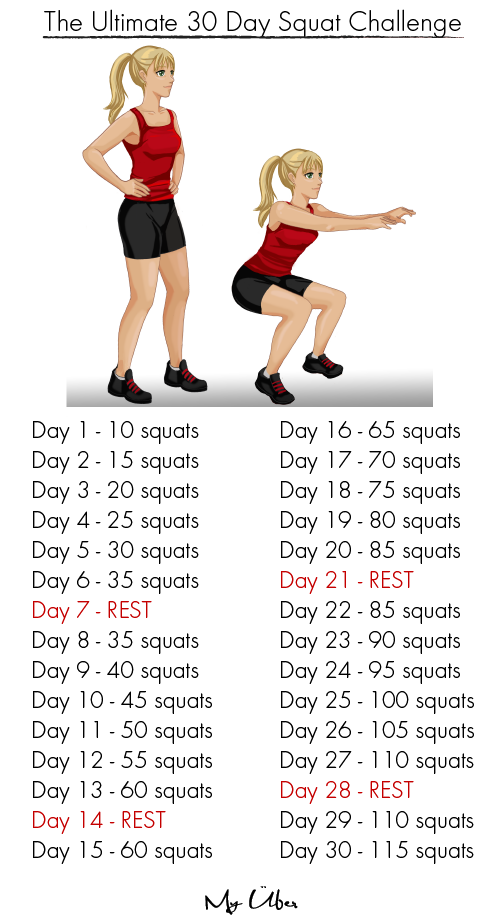 how to get the squat challenge